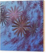 Floating Floral - 001 Wood Print