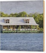 Floating House In La Parguera Puerto Rico Wood Print