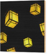 Floating Lanterns Wood Print