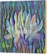 Floating Lotus - Kindness Wood Print