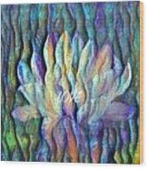Floating Lotus - Love Wood Print