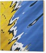 Floating On Blue 33 Wood Print