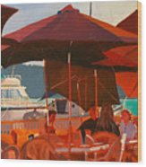 Floating Restaurant Wood Print