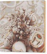 Floating Spheres Wood Print