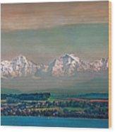 Floating Swiss Alps Wood Print