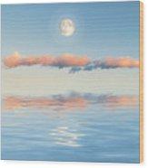 Floating Through Blue Wood Print