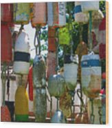Floats And Buoys II Wood Print