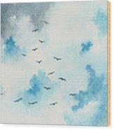 Flock Of Birds Wood Print