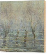 Flood In Giverny Wood Print