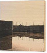 Flooded Defences Wood Print