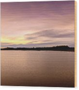 Flooded Sunset Wood Print