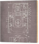 Floppy Disk Assembly Patent Drawing 1a Wood Print