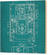 Floppy Disk Assembly Patent Drawing 1c Wood Print