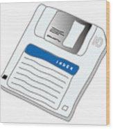 Floppy Disk Wood Print