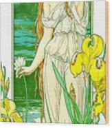 Flora 1905 Wood Print