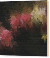Flora Feathers Wood Print
