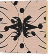 Flora Feline Blushed Wood Print