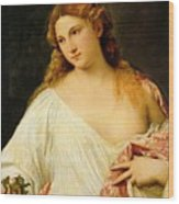 Flora Wood Print by Titian
