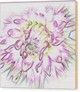 Floradoodle Wood Print