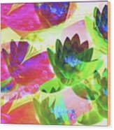 Floral Abstract #3 Wood Print