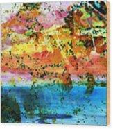 Rustic Landscape Abstract  D2131716 Wood Print