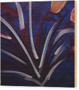Floral Abstract Wood Print