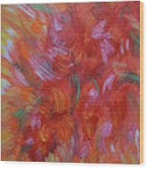 Floral Abstract, Sunshine Bouquet Wood Print