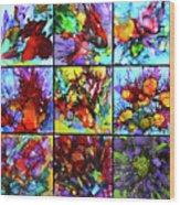 Floral Air Wood Print
