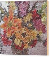 Floral Arrangement Wood Print