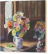 Floral Arrangements Wood Print
