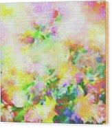 Floral Art Clxiv Wood Print