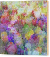 Floral Art Cxi Wood Print
