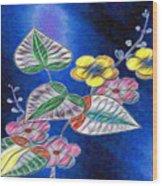 Floral Art Illustrated Wood Print
