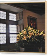 Floral At Chenonceau Wood Print