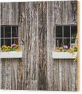 Floral Barn Planters Wood Print