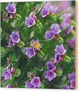 Floral Beehive Wood Print