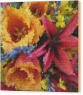 Floral Blast Wood Print
