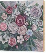 Floral Boom Wood Print