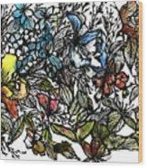 Floral Bush I Wood Print
