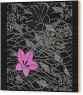 Floral Chirimen Wood Print