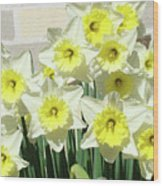 Floral Daffodils Garden Art Prints Floral Bouquet Baslee Troutman Wood Print