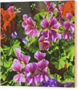Floral Design 5 Dark Wood Print