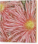 Floral Design No 1 Wood Print