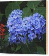 Floral Duet Wood Print