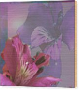 Floral Dust Wood Print