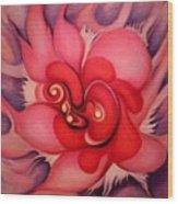 Floral Energies Wood Print