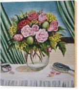 Floral Essence Wood Print