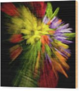 Floral Explosion Wood Print