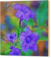 Floral Expression Wood Print