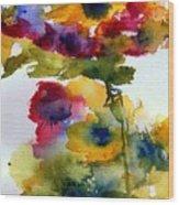 Floral Fancy Wood Print